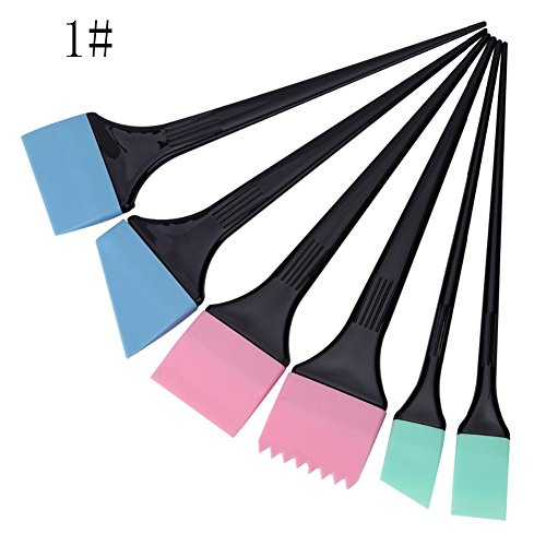 Gracefulvara 6pcs/set Hair Dyeing Brushes Coloring Comb Kit
