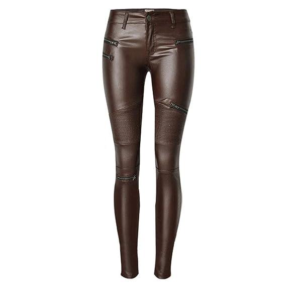 Pantalon Faux Cuir Crayon Huateng Jean Basse D'équitation Taille bg6yf7
