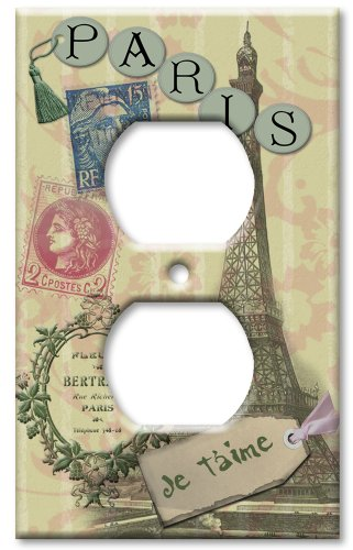 Art Plates - Paris Je T'aime Switch Plate - Outlet Cover