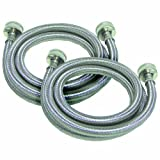 Watts 2PBSPW60-1212 5-Foot Stainless Steel Washing Machine Hose