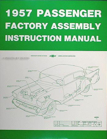 1957 Chevrolet Car Assembly Manual Reprint ()