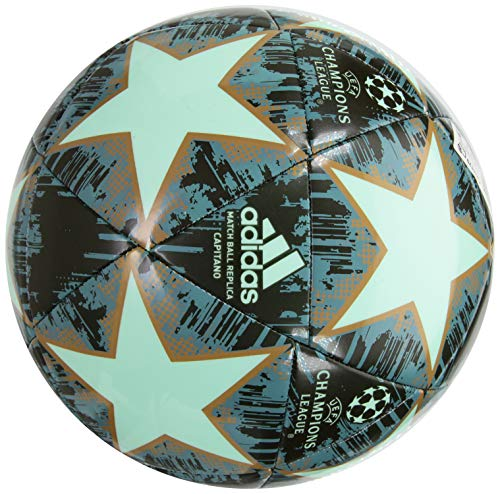 adidas Performance Champions League Finale 18 Capitano Soccer Ball, Light Pastel Green, Size 5