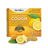 Herbion Naturals Sugar-Free Cough Lozenges with Natural Honey-Lemon Flavour, 18 Lozenges - Relieves Cough, Clears Nasal Congestion, Soothes Sore Throat; For Adults and Children 12 years and above