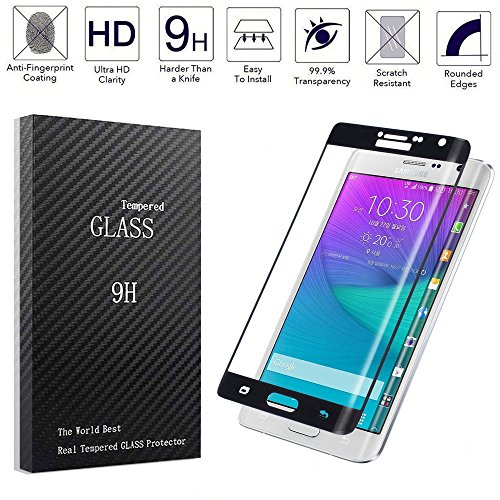 Dogxiong Black Full Cover Connect Curve Edge Anti-scratch Inner concave Desgin Glass Screen Without Gap Tempered Glass Protectors Guard Film For Samsung Galaxy Note Edge N915 - Edge Note