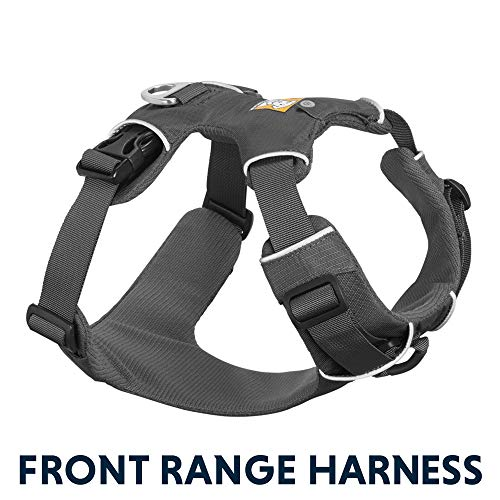 RUFFWEAR - Front Range, Everyday No Pull Dog Harness with Front Clip, Trail Running, Walking, Hiking, All-Day Wear, Twilight Gray (2017), Large/X-Large (Best Harness For Deep Chested Dogs)