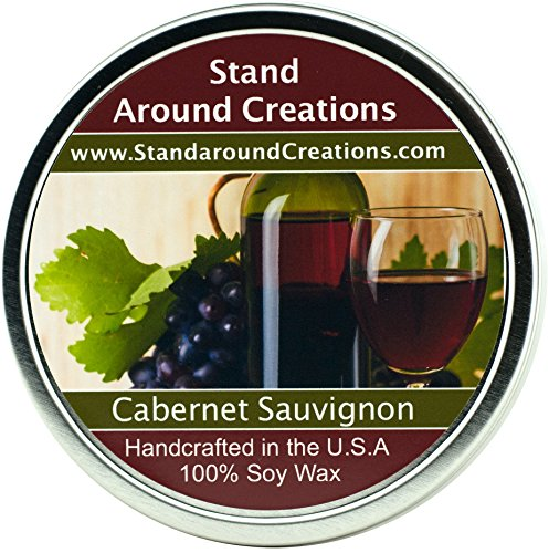 Premium 100% All Natural Soy Wax Aromatherapy Candle -16 oz. Tin: Cabernet Sauvignon Wine: The sweet aroma of wild grapes enhanced with hints of strawberries and sweet sugary notes with a light alcoholic background. A wonderful aroma of red sweet cabernet wine.