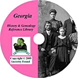 Georgia History & Genealogy on DVD - 96 books, Ancestry, Records, Family