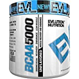 Evlution Nutrition BCAA5000 Powder, 5 Grams of Premium BCAAs (Unflavored)