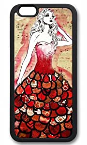 Fashion Girl With Red Dress fashion Thanksgiving Halloween Masterpiece Limited Design TPU Black Case for iphone 6 by Cases & Mousepads