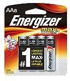 #7: Energizer AA Batteries, Max Alkaline (8 Count)