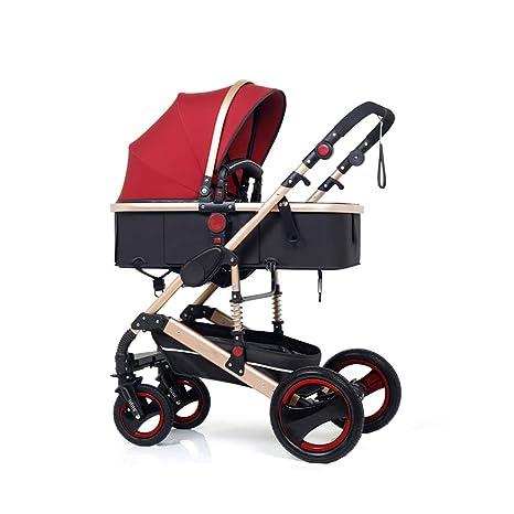 Baby stroller- El cochecito de bebé puede sentarse y doblar el carro ...