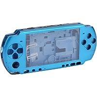 Mugast Reemplazo de Carcasa de Carcasa para Sony PSP 3000, diseño antichoque, Anti presión, Anti arañazos, Moderno y Hermoso(Azul)