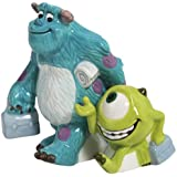 Westland Giftware Sulley and Mike Magnetic Ceramic Salt and Pepper Shaker Set, 3.75-Inch