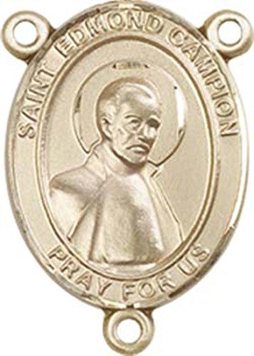14K Gold Filled Saint Edmund Campion Rosary Centerpiece Medal, 3/4 - Medal Campion Edmund