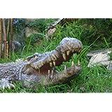 RIESEN Krokodil - ca. 77 cm - Deko für Garten, Terrasse oder Wohnung - Krokodile