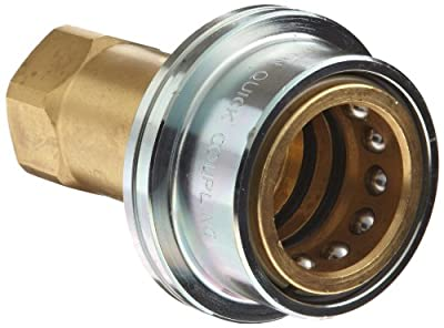 Dixon B16 Series Solid Brass Steam Quick Disconnect Boss Fitting, Poppet Valve Coupler, Coupling x NPT Female
