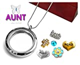 This glass locket opens from the side like a book, and has a very strong magnetic open/closure with a pin or your nail, so you don't have to ever worry about losing any of your treasured pieces. This also allows you to be able to open it up a...