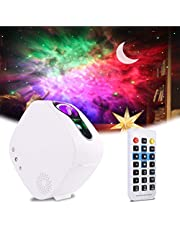 Sky LED Projector Night Light,3-in-1 LED Moon Nebula Cloud Rotating Star Light Galaxy Projector with RF Remote Controller,Bluetooth Star Projector Light