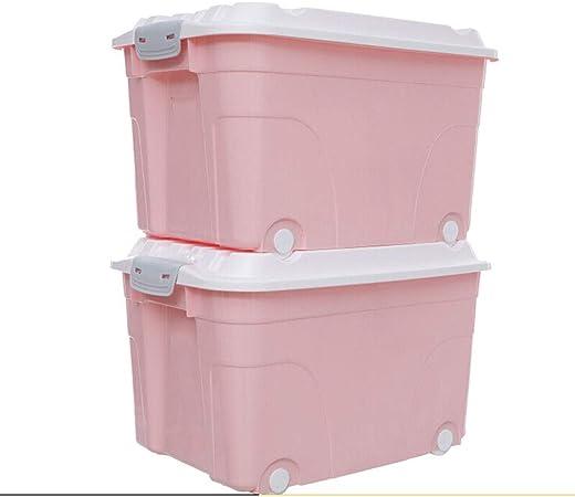 xy Cajas almacenaje plastico Grandes de Almacenamiento, Caja de almacenaje de plástico Verde, Rueda Caja de Almacenamiento ((60L) Rosa) Cajas almacenaje: Amazon.es: Hogar