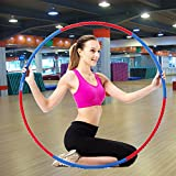 SMALAZAR FE21 Professional Lightweight Metal Foamed Hula Hoop Perfect for Dancing Fitness Exercise...