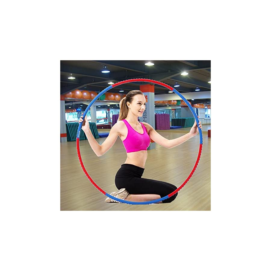 "SMALAZAR FE21 Professional Lightweight Metal Foamed Hula Hoop Perfect for Dancing Fitness Exercise Workouts for Adults and Kids Simply The Funnest Way to Lose Weight (Dia:43"", 2.2lbs)"