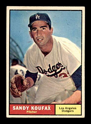 #344 Sandy Koufax HOF - 1961 Topps Baseball Cards Graded EX - Baseball Slabbed Autographed Vintage Cards
