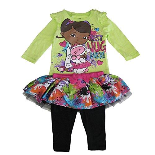 Disney Baby Girls Multi Color Doc McStuffins Print Tutu Pant Set (Doc Mcstuffins Tutu Dress)
