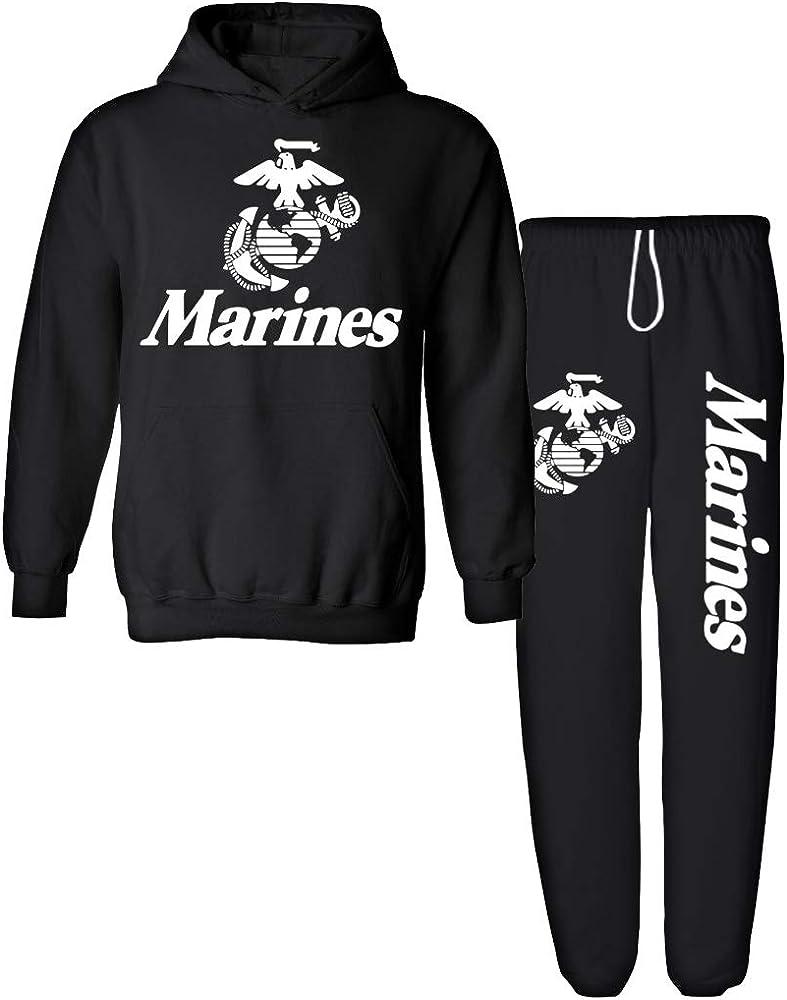 U S Marine Corps Semper Fi Mens Hoodies Soft Cozy Hooded Sweatshirts Sweater Long Sleeve T Shirt