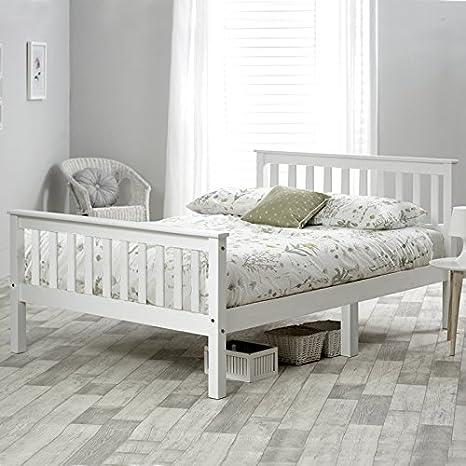 Life Carver®, struttura letto matrimoniale in legno bianco, 135 x ...