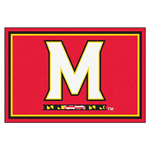 FANMATS NCAA University of Maryland Terrapins Nylon Face 5X8 Plush Rug by Fanmats