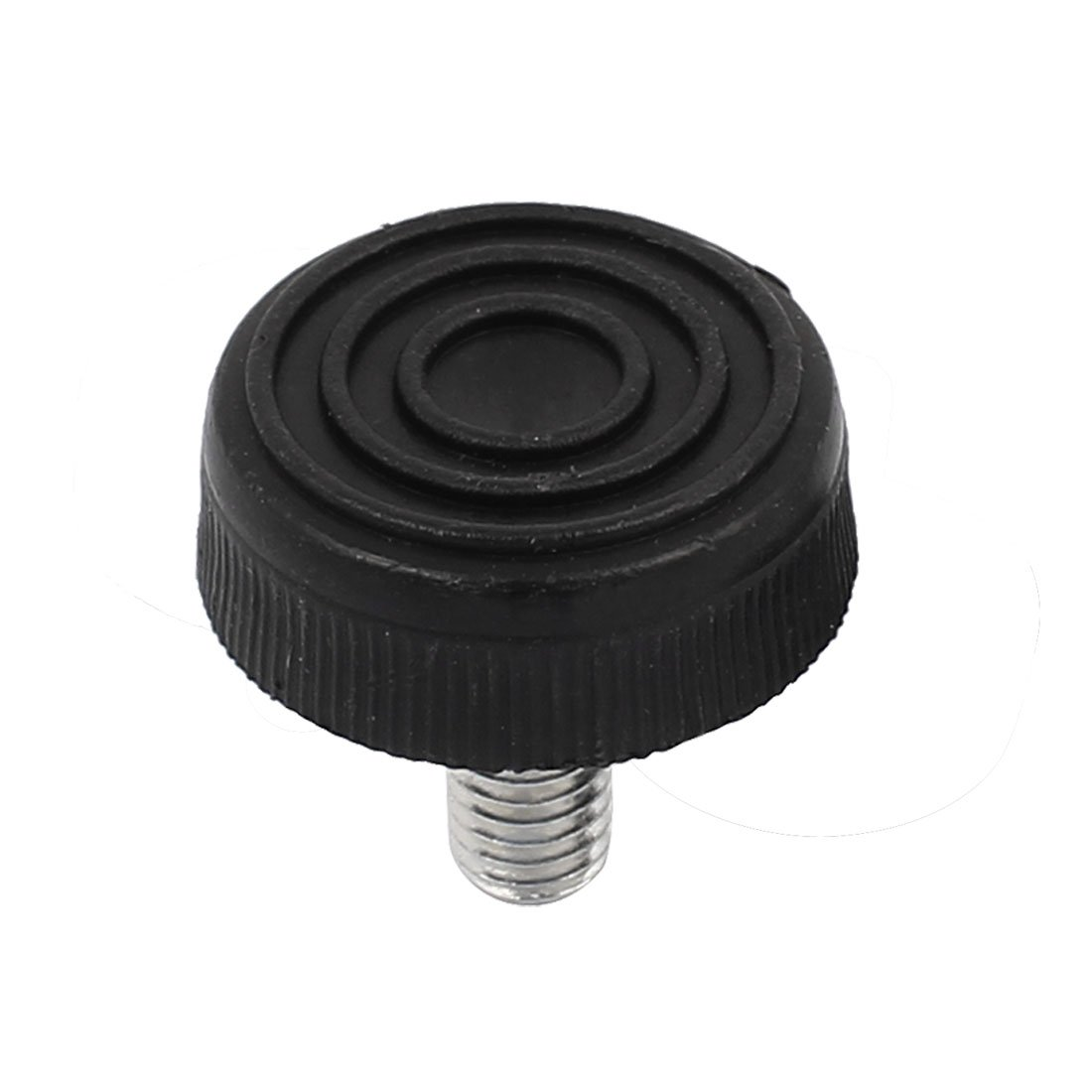 uxcell M8 Male Thread Furniture Table Plastic Base Adjustable Leveling Feet Black
