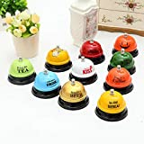 FelixStore Arrival Pet Dog Training Dog Bell Metal Bell Creative Paint Pet Button Training Call Bell for Eat