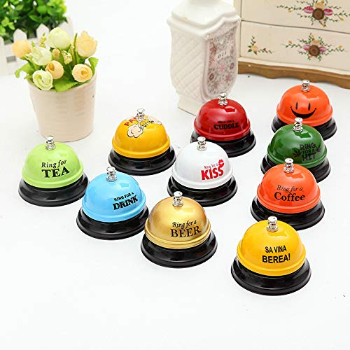 FelixStore Arrival Pet Dog Training Dog Bell Metal Bell Creative Paint Pet Button Training Call Bell for Eat by FelixStore
