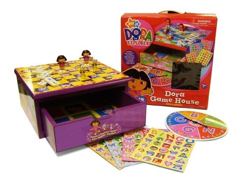 Dora Explorer The Game Board (Cardinal Industries Dora The Explorer Game House)