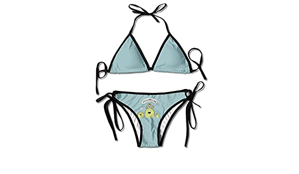 MOMOAN Sexy Push Up Unpadded Bikini Set Women I'm A Fucking Unicorn Adjustable Swimsuit Beach Suit Bathing Suits