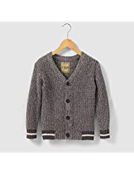 Abcd'r Boys Cotton V-Neck Cardigan, 3-12 Years Grey Size 12 Years - 59 In.