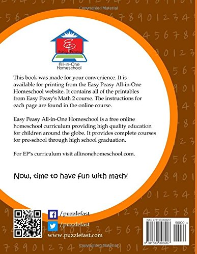 EP Math 2 Printables: Part of the Easy Peasy All-in-One Homeschool ...