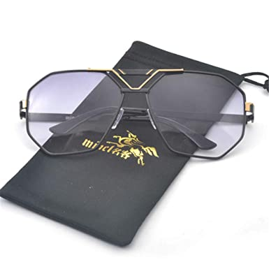 06069f8d857f MINCL New Style 2017 Luxury Brand Designer Sunglasses Men Women Vintage  Oversized Glasses Man (black)  Amazon.co.uk  Clothing