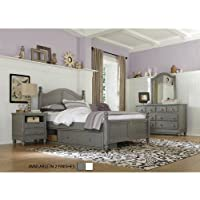 NE Kids Lake House Payton Full Arch Storage Bed in Stone