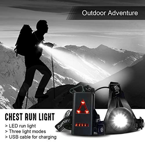 2 Pack RODH Night Running Lights Jogging Led Chest Light Walking ...