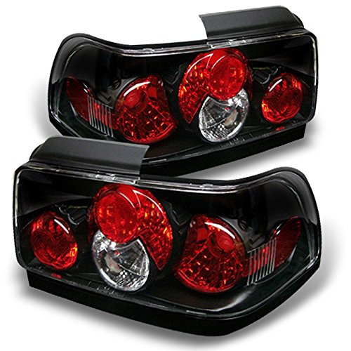 For 1993-1997 Toyota Corolla Black Altezza Tail Lights Rear Brake Lamps Left + Right Pair ()