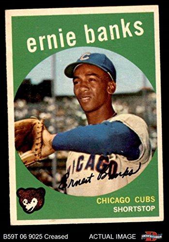 1959 Topps # 350 Ernie Banks Chicago Cubs (Baseball Card) Dean's Cards 3 - VG Cubs