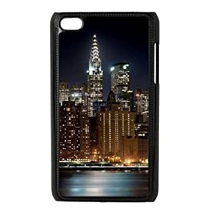 DIY New York City Skyline at Night Ipod Touch 4 Cover Case, New York City Skyline at Night Personalized Phone Case for iPod Touch4 at Lzzcase