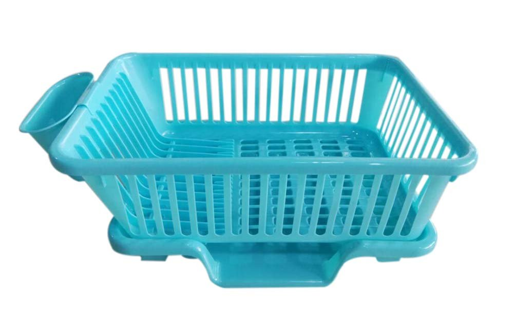 Kitchen Dish Rack Storage Rack Sink Grid/ Grid Tableware Rack Front Blue PANDA SUPERSTORE PS-HOM5298280011-SUNNY00258