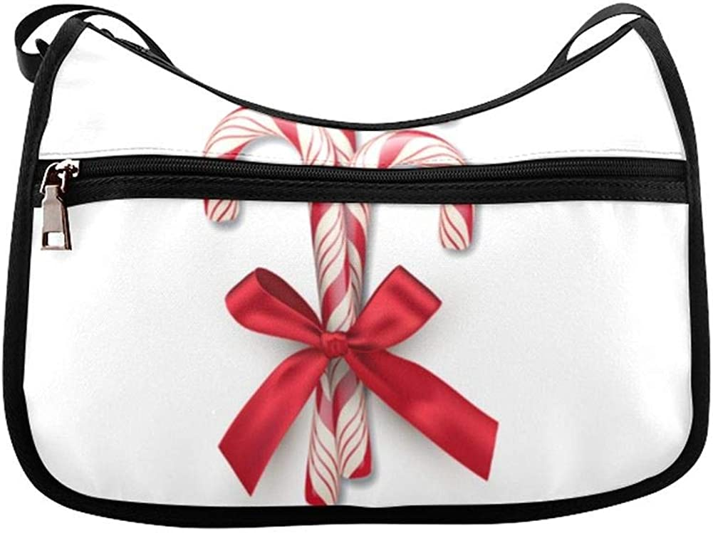 Christmas Lollipop Dessert Messenger Bag Crossbody Bag Large Durable Shoulder School Or Business Bag Oxford Fabric For Mens Womens