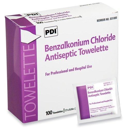 (Hygea BZK Benzalkonium Chloride Antiseptic Towelette - 100 Per Box - 100 / Box - 7.88