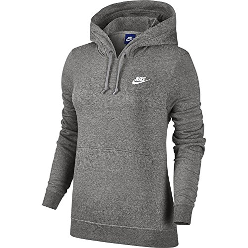 Court Womens Sweatshirt - Women's Nike Sportswear Hoodie Dark Grey Heather/White Large