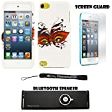 Masquerade Eyes 2 piece Cover Shield Protector Case For Apple iPod Touch 5 ( 5th Generation) 32GB, 64GB + Anti Glare Screen Protector Guard + Supertooth Disco Bluetooth Speaker with AUX Cable + an eBigValue Determination Hand Strap