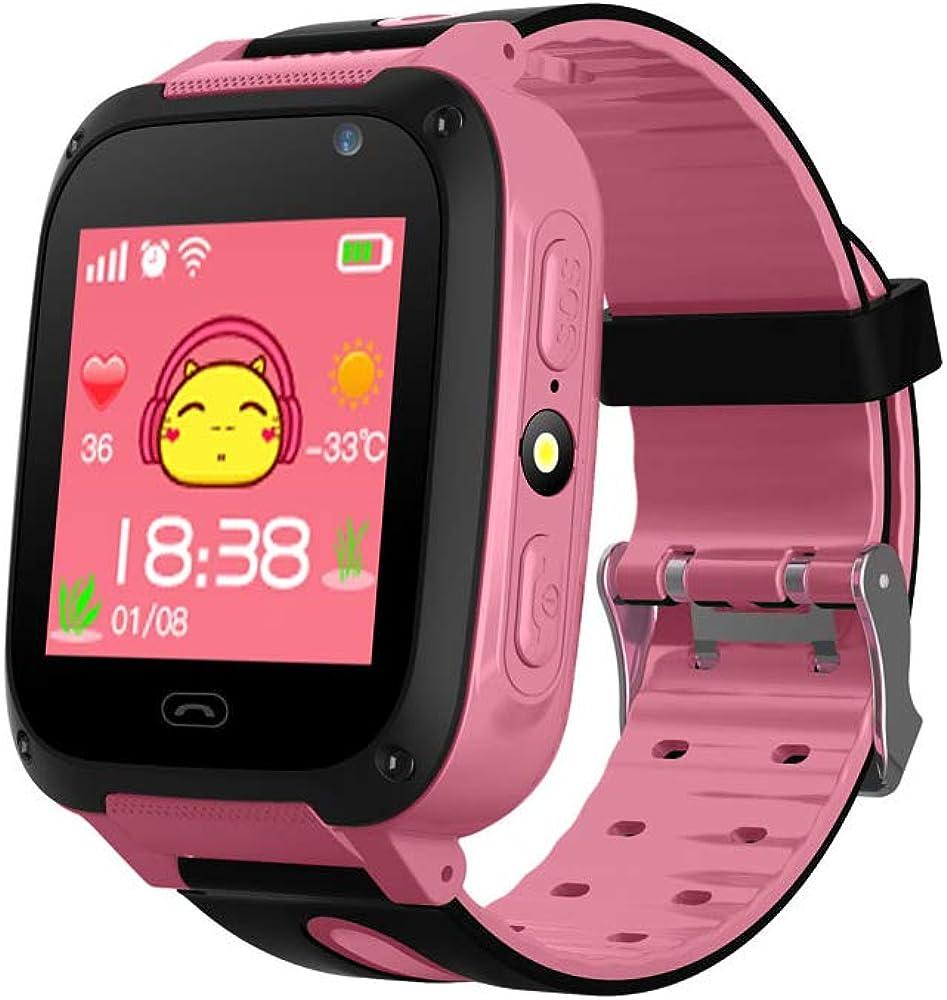 Yozhanhua - Reloj Inteligente para niños, teléfono móvil, Resistente al Agua, rastreador de GPS/LBS para niños, Compatible con iOS/Android
