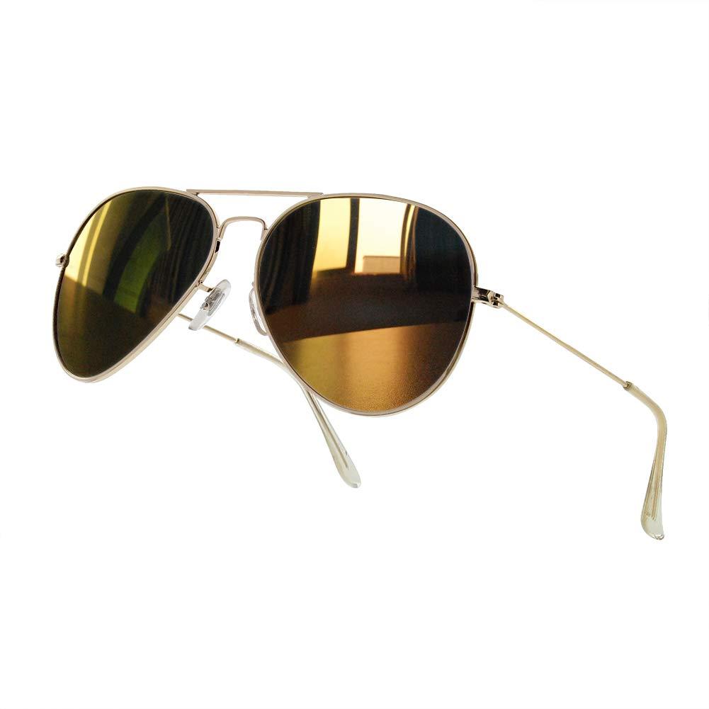 NWOUIIAY Gafas de Sol para Aviador Metal Polarizado 100 % UV400 de Marco de  Cuproníquel 3fb7c8529d60